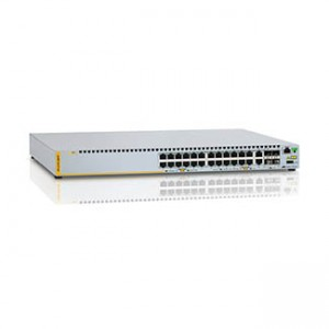 Allied Telesis Switch, Intelligent Stackable PoE+ 10/100TX 24 + 2 Combo Port