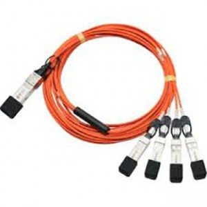 Cisco 40GBase-AOC QSFP to 4 SFP+ active optical breakout cable, 5-meter