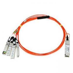 Cisco 40GBase-AOC QSFP to 4 SFP+ active optical breakout cable, 7-meter