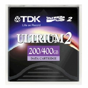 TDK 27813 Ultrium LTO-2 Data Backup Cartridge - 200 GB Native/400 GB Compressed(Library pack of 20 tapes)